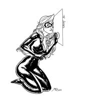 Black Cat Sketch by quin-ones