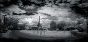 Thai Graveyard infrared... by MichiLauke