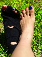 my feets and by shispis