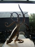 'LEGEND' Bronze giant squid table and sculpture by bronze4u