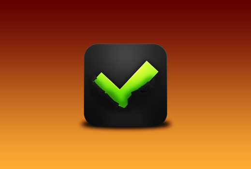 Checkmark Icon - Destruction version by Awery