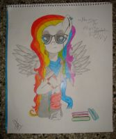The Hipster PONY - Ahome OC Drawing by AhomeToons