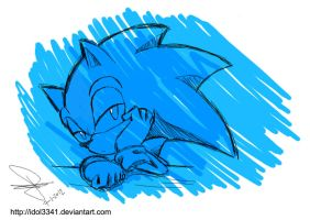 Sonic another random oekaki by idolnya