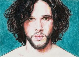 Kit Harington colour pencil portrait by Pevansy