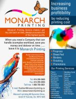 Monarch printing flyer by aa3