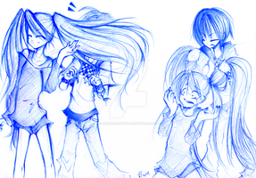 Sketch: Violet and Li Xiang by trainingartist