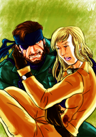 Naked Snake and EVA by Prydonian-Poet