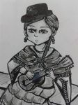 Cholita playing her charango: a closer look by Ms-Chocolate-Cookie