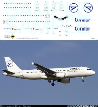 1/144 Airbus A320-214 Condor Airlines YL-LCK by WombatsModels