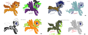 MASS PONY ADOPTABLES/CUSTOMS by Adoptable-Zee