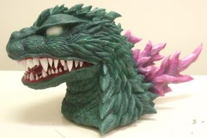 Godzilla 2000 bust sculpture in progress by AWMStudioProductions