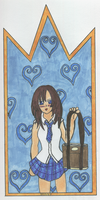 KH2 Kairi Card by Rhythm-Wily