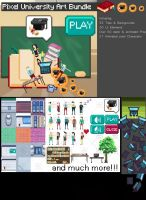 Awesome Pixel University Art Bundle //for SALE by ChrisIsaak
