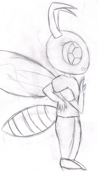 Pretty Wasp Lady by ICB-Penguin