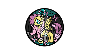 Fluttershy Design for Stained Glass by DevicTemple