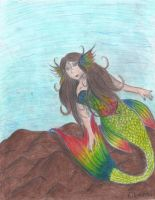 Niji the mermaid! by eilujenna