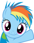 Rainbow Dash Filly - Oh Hey! by uxyd