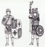 Dog Republic's armored infantry and shield bearer by MOESIA