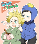 Craig and Tweek by Hajime-Hakumai