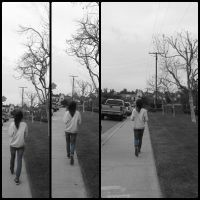 Walking at the pavement by princesskhym