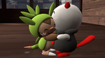 Random cute Oliver and Chespin pic (SFM) by yoshi12345786