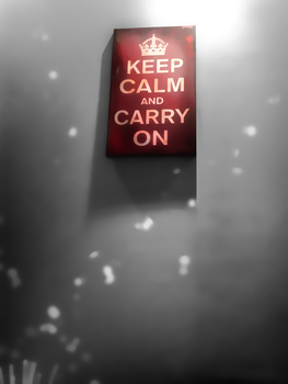 Keep Calm and Carry ON or go home xD by fesell