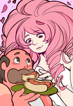 Steven universe - Greg and rose by uzuluna