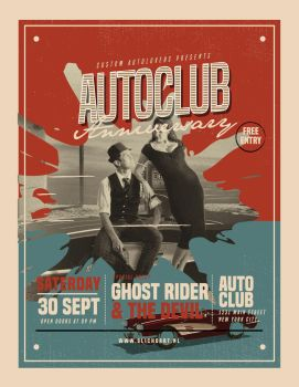 retro autoclub anniversarry poster by SlichoArt