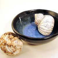 Ocean Blue and Turquoise Ceramic Bowl by bugsandbears