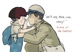 Grave of the Fireflies - Setsuko and Sosuke by joanna-lee