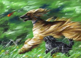 Wind in the Fur - painting for sale by rieke-b