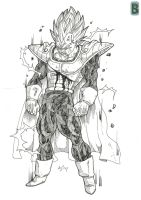ssj2 Vegeta U13 by bloodsplach