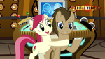 Doctor Whooves and Rose in the TARDIS by Ryan1942