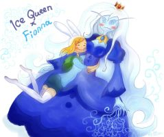 Fionna and Ice Queen by PsihoSkulptor