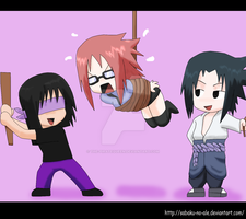 Naruto+Chibis: Poor Karin D: by The-PirateQueen