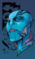 Abe Sapien by coloring
