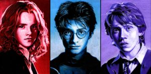 The Harry Potter Trio by CAMartin