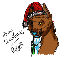 Merry Christmas From Roux by RouxWolf