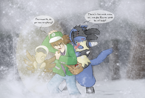 Challenging the Blizzard by zarla