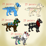 5 Adopts Sheet - Canine - OPEN - 25 points by ChrysanthemumAdopts
