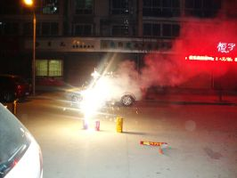 New Years fireworks 1 by Laura-in-china