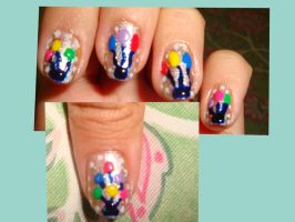 Birthday Nails by MiracleMili