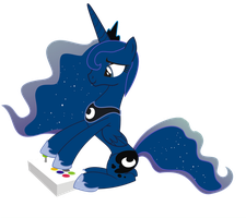 Princess Luna playing alone PNG by leopurofriki