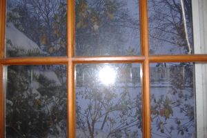 Snow view out the window by X-Bluberri-X