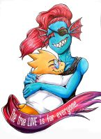 [Fan Art] Undertale: Undyne and Alphys by AlexisPaint