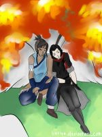 :Makorra Week Day 3: Genderbender by liutiya