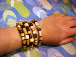 Natural Wood Elements Bracelet by beadsofcompassion