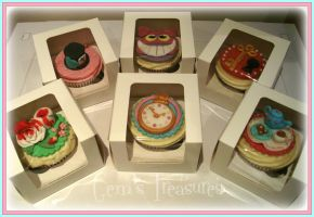 Alice In Wonderland Cupcakes by gertygetsgangster