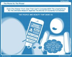 The Phone Vs. The Phaser by schizmatic
