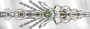 Direblade class frigate quick shaded by Evilonavich
